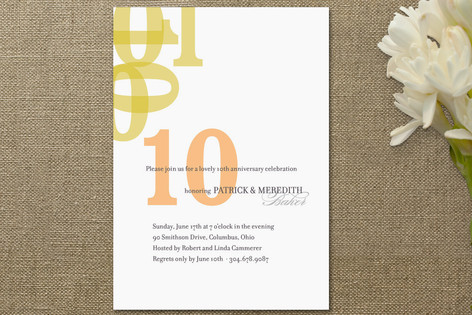 Forever Anniversary Party Invitations