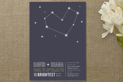 Stargazing Anniversary Party Invitations