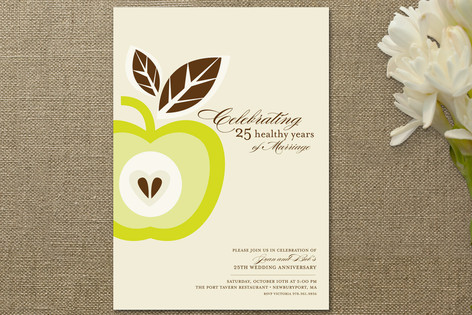 Core of My Heart Anniversary Party Invitations