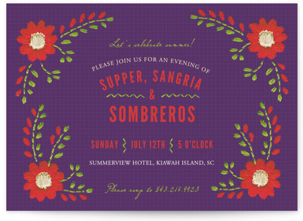 Mexican Ties Party Invitations