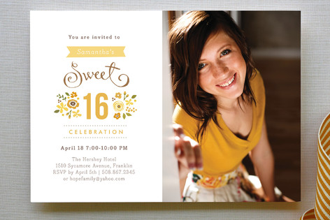 Sweet Cinque Party Invitations