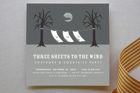 Three Sheets to the Wind Party Invitations