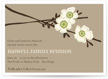 Apple Blossom Party Invitations