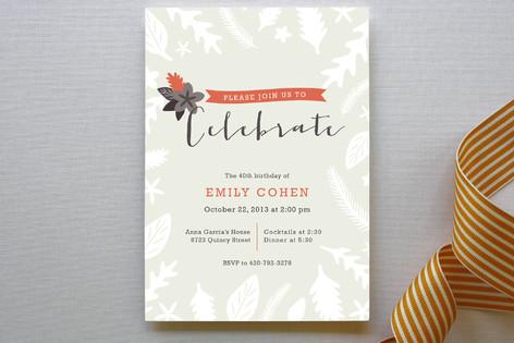 Fall Foliage Party Invitations