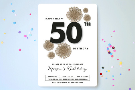 Sparkle Everywhere Party Invitations