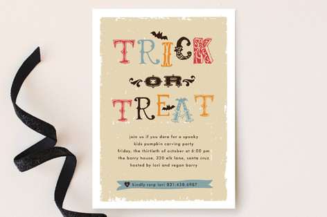 Trick or Treat Party Invitations
