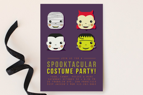Spooky Costumes Party Invitations