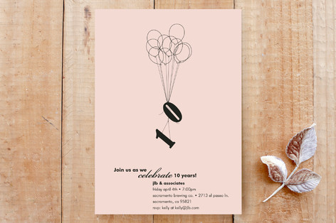 Ten Balloons Party Invitations