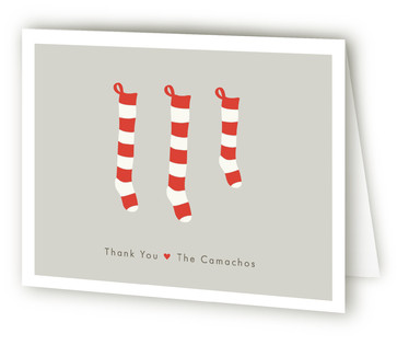 A New Stocking Pregnancy Announcements Thank You Card