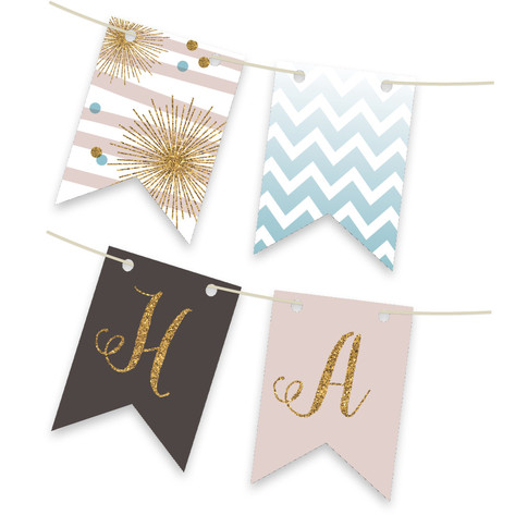 Holiday Bling Bunting Banners Personalizable Bunting Banner