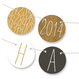 New Year's Table Tents Personalizable Bunting Banners