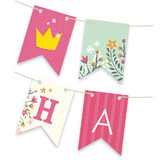 Princess Crown Personalizable Bunting Banners