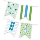 Blue Big Top Circus Personalizable Bunting Banners