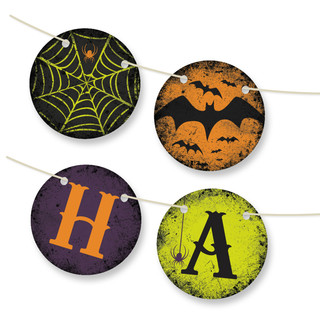 Spirited Halloween Personalizable Bunting Banner