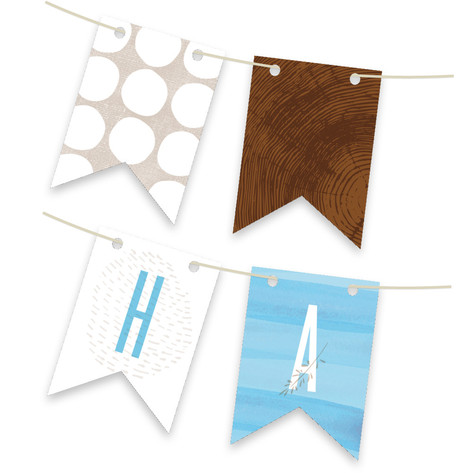 Asheville Artisan Personalizable Bunting Banner