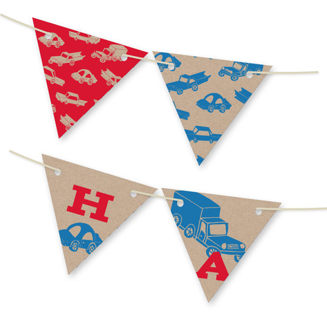 Cars Personalizable Bunting Banner