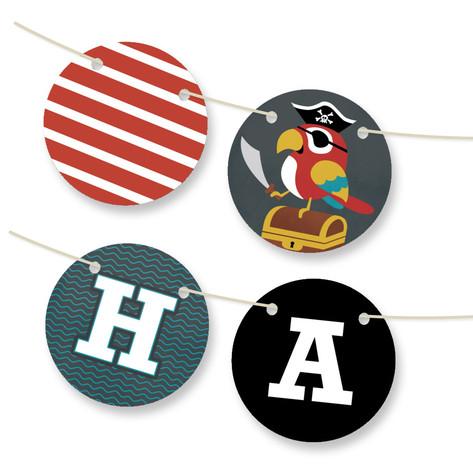 Yo Ho Ho! Personalizable Bunting Banner