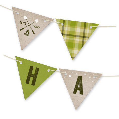 Campsite Personalizable Bunting Banner