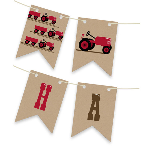 A Tractor Pull Personalizable Bunting Banner