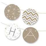 Rustic Sparkle Personalizable Bunting Banners