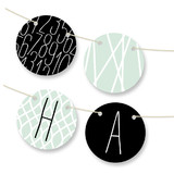 Modern Mint Personalizable Bunting Banners
