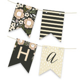 Botanical Wreath Personalizable Bunting Banners