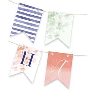 Ginkgo Personalizable Bunting Banner