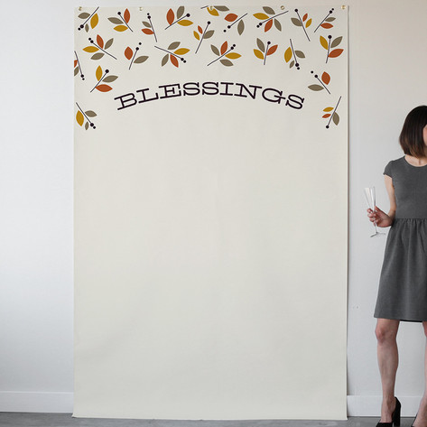Foliage Thanksgiving Personalizable Photo Backdrops
