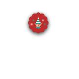 Happy Santa Closure Stickers