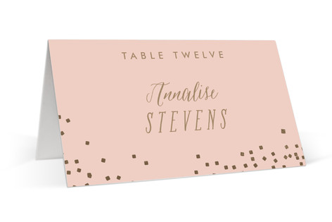 Bubbly Foil-Pressed Place Cards