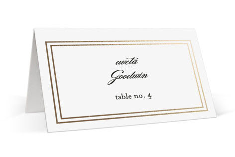 Eloquence Foil-Pressed Place Cards