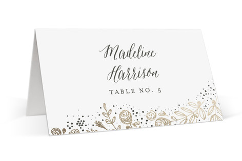 The Wedding Bouquet Foil-Pressed Place Cards