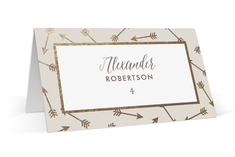Devoted Foil-Pressed Place Cards