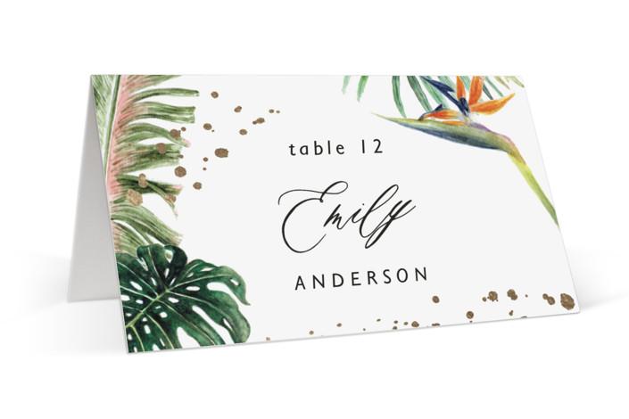 Our Paradise Foil-Pressed Place Cards