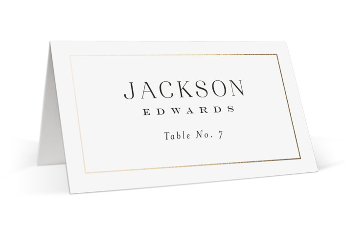 Entwine Foil-Pressed Place Cards