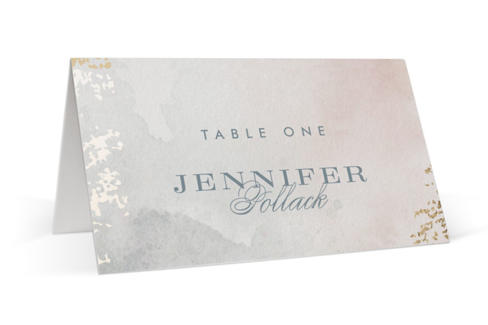 Burnished Foil-Pressed Place Cards