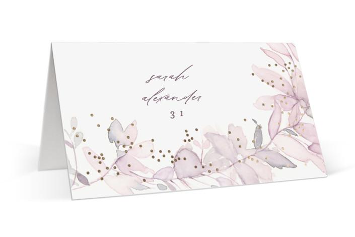 side romance Foil-Pressed Place Cards
