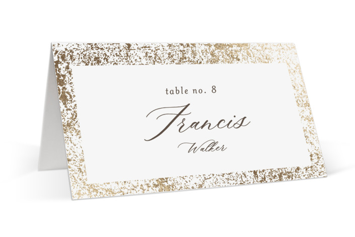 Inlay Foil-Pressed Place Cards