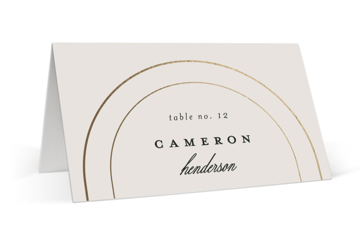 Full Circle Foil-Pressed Place Cards