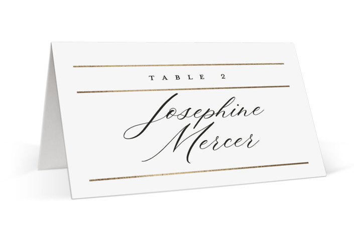 Heard the news Foil-Pressed Place Cards