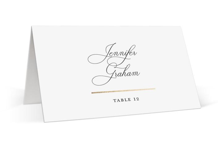 Elegant Flourish Foil-Pressed Place Cards