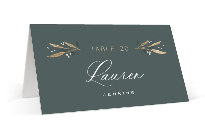 Gilded Foil-Pressed Place Cards