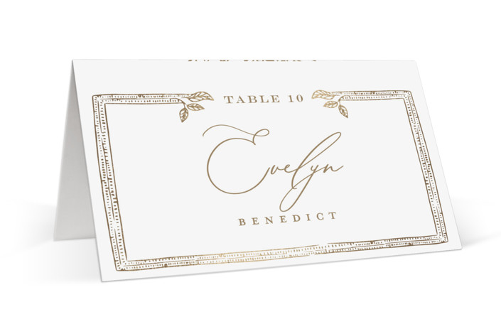 Reflection Foil-Pressed Place Cards