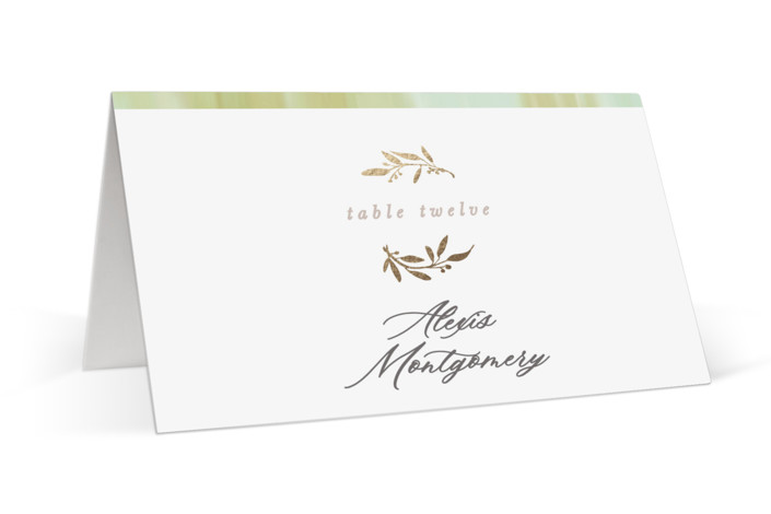 Love and Marriage Foil-Pressed Place Cards