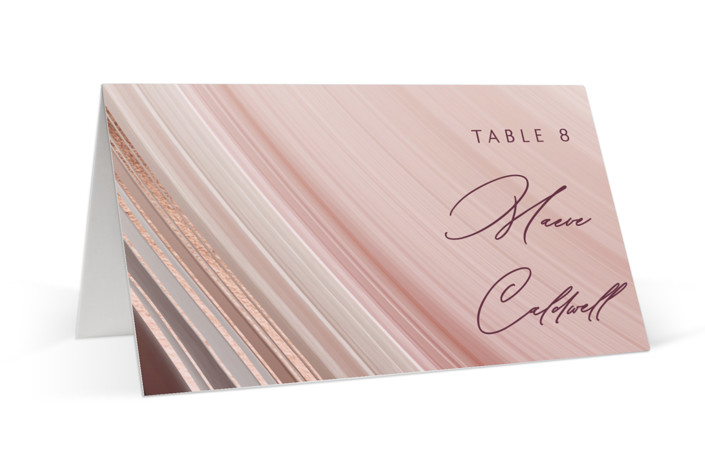 chiffon Foil-Pressed Place Cards