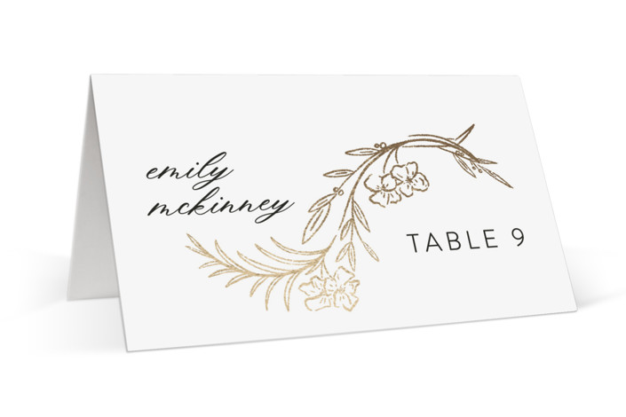 Delicate Woodland Foil-Pressed Place Cards