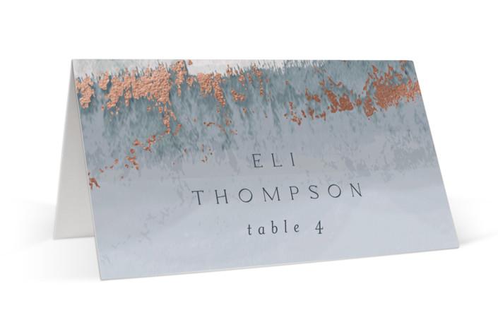 Coastal Foil-Pressed Place Cards