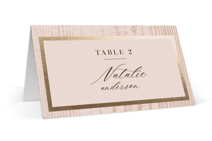 barn door Foil-Pressed Place Cards