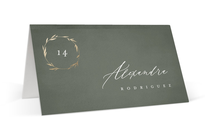 Minimal Circle Foil-Pressed Place Cards