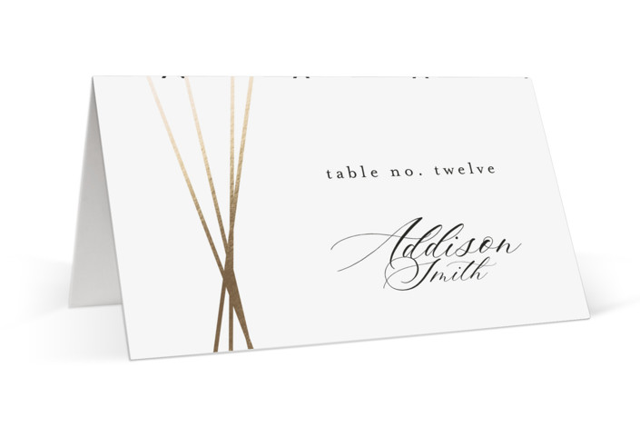 Tied Foil-Pressed Place Cards